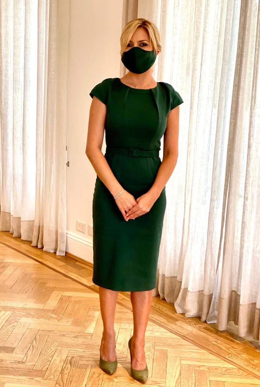 Fabiola Yáñez recibió al embajador de Qatar e impactó con su look