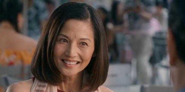 "Kumiko en ""Cobra Kai 3"", la actriz Tamylin Tomita de ""Karate Kid 2"" volvió a la serie con un rol fundamental. Foto Netflix."